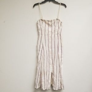 Theory White and Purple Stripe Dress